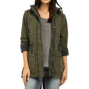 Levi's Olive Utility Military Army Jacket Small